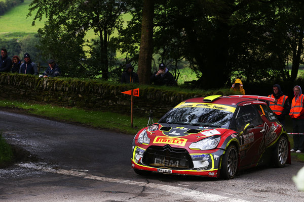 2017 British Rally Championship, Ulster Rally, Londonderry. 18th - 19th August 2017. Jonny Greer / Kirsty Riddick Citroen DS3 R5 World Copyright: JEP/LAT Images.