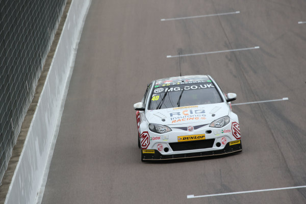 2017 British Touring Car Championship, Rockingham, England. 26th-27th August 2017, Aron Taylor-Smith (IRL) MG Racing RCIB Insurance MG6GT World Copyright. JEP/LAT Images