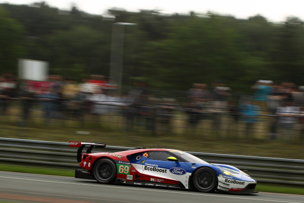 2016 Le Mans 24 Hours Test day, Le Mans, France. 5th June 2016. Ryan Briscoe / Richard Westbrook / Ford Chip Ganassi Team USA Ford GT. World Copyright: Ebrey / LAT Photographic.