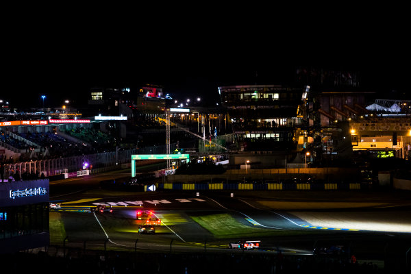 2016 Le Mans 24 Hours. Circuit de la Sarthe, Le Mans, France. Sunday 19 June 2016. A view of the Ford Chicane and start/finish straight during the race. World Copyright: Zak Mauger/LAT Photographic ref: Digital Image _79P8288