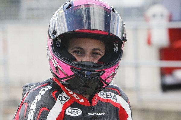 2015 Moto3 Championship.  British Grand Prix.  Silverstone, England. 28th - 30th August 2015.  Ana Carrasco, KTM.  Ref: KW7_5281a. World copyright: Kevin Wood/LAT Photographic