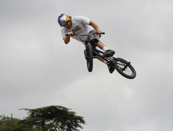 2015 Goodwood Festival of Speed.  Goodwood Estate, West Sussex, England. 25th - 28th June 2015.  Freestyle BMX in the GAS Arena.  Ref: KW5_3710a. World copyright: Kevin Wood/LAT Photographic