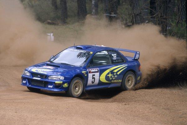 1999 World Rally Championship.Australian Rally, Australia. 4-7 November 1999.Richard Burns/Robert Reid (Subaru Impreza WRC), 1st position.World Copyright: LAT PhotographicRef: 35mm transparency 99RALLY13