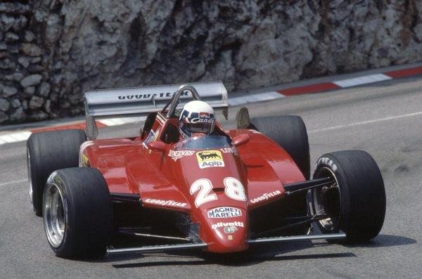 1982 Monaco Grand Prix.Monte Carlo, Monaco. 20-23 May 1982.Didier Pironi (Ferrari 126C2), 2nd position.World Copyright: LAT PhotographicRef: 35mm transparency 82MON05
