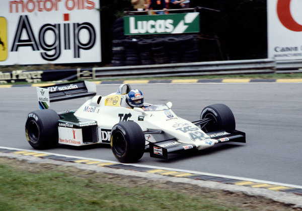 1983 European Grand Prix.Brands Hatch, England.23-25 September 1983.Jonathan Palmer (Williams FW08C Ford) 13th position. 