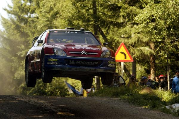 2003 FIA World Rally Champs. Round nine, Neste Rally Finland. Rally7th-10th August 2003.Carlos Sainz, Citroen, action. World Copyright: McKlein/LAT
