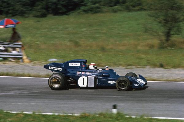 1972 Austrian Grand Prix.  Osterreichring, Zeltweg, Austria. 11-13th August 1972.  Jackie Stewart, Tyrrell 005 Ford, 7th position.  Ref: 72AUT06. World Copyright: LAT Photographic