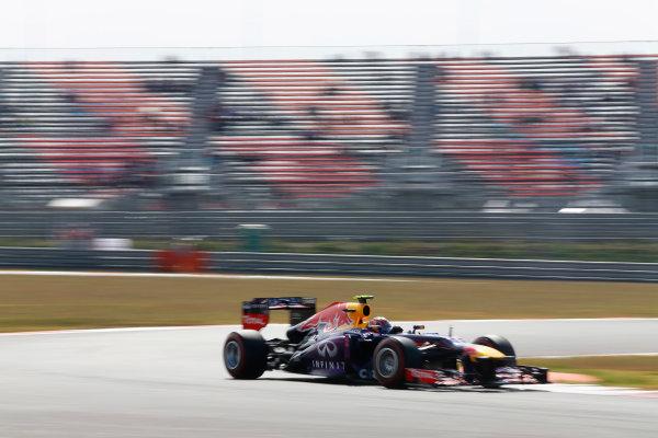 Korea International Circuit, Yeongam-Gun, South Korea. Saturday 5th October 2013. Mark Webber, Red Bull RB9 Renault. World Copyright: Steven Tee/LAT Photographic. ref: Digital Image _14P6844
