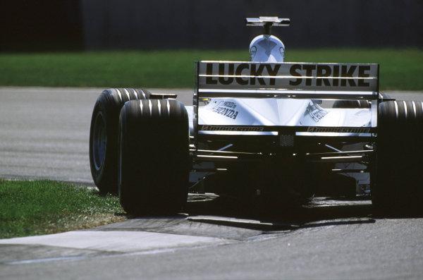 Indianapolis, Indiana, USA. 22-24 September 2000.Jacques Villeneuve (B.A R. 002 Honda) 4th position.Ref-2k USA A31.World Copyright - Coates/LAT Photographic