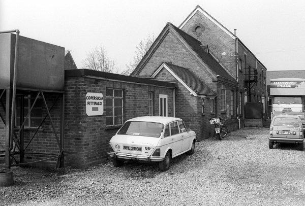 The Copersucar Fittipaldi team headquarters. Formula One World Championship, Reading, England, C. March 1976.