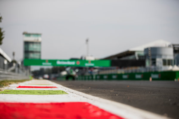 2017 FIA Formula 2 Round 9. Autodromo Nazionale di Monza, Monza, Italy. Thursday 31 August 2017. Kerbs. Photo: Zak Mauger/FIA Formula 2. ref: Digital Image _54I4867