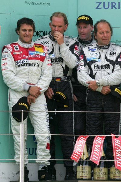 L-R: Christian Abt (GER) / Uwe Alzen (GER) / Jurgen Alzen (GER) / Klaus Ludwig (GER) H and R Spezialfedern finished in 2nd place. Nurburgring 24 Hour Race, Nurburgring, Germany 17-18 June 2006 DIGITAL IMAGE