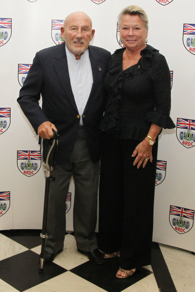 2015 British Racing Drivers Club Awards Grand Connaught Rooms, London Monday 7th December 2015 Sir Stirling Moss with his wife Susie. World Copyright: Jakob Ebrey/LAT Photographic ref: Digital Image Moss-14