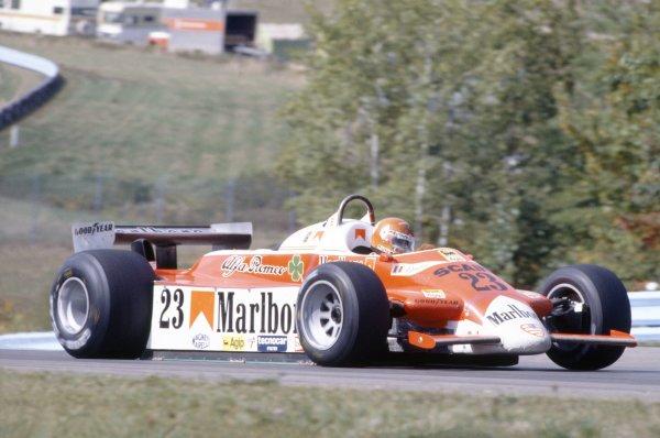 1980 United States Grand Prix.Watkins Glen, USA. 3-5 October 1980.Bruno Giacomelli (Alfa Romeo 179B), retired.World Copyright: LAT PhotographicRef: 35mm transparency 80USA11