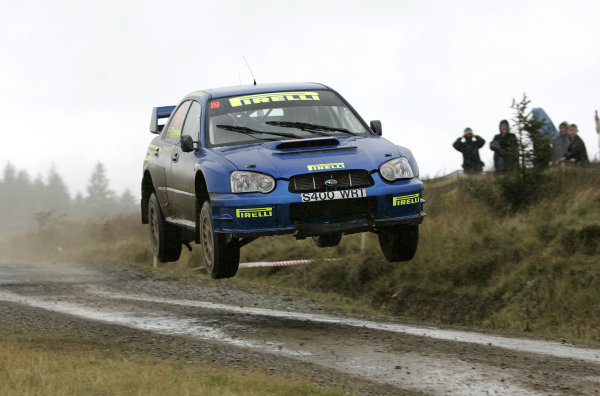 2004 FIA World Rally Champs. Round twelve, Wales Rally GB.16th- 19th September 2004.Alister Ginley, Subaru, action.World Copyright: McKlein/LAT
