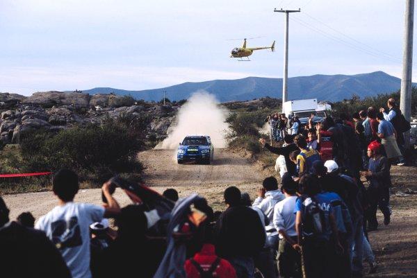 2003 World Rally ChampionshipRally Argentina, Cordoba, Argentina, 7th - 11th May 2003.Tommi Makinen/Kaj Lindstrom (Subaru Impreza WRC 2003), action.World Copyright: LAT Photographicref: 03WRCArg01