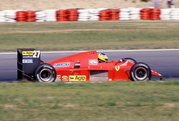1986 Hungarian Grand Prix.  Hungaroring, Budapest, Hungary.  8-10 August 1986.  Michele Alboreto (Ferrari F186).  Ref-86 HUN 39.  World Copyright - LAT Photographic