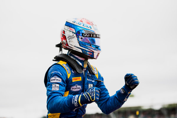 2017 FIA Formula 2 Round 6. Silverstone, Northamptonshire, UK. Sunday 16 July 2017. Nicholas Latifi (CAN, DAMS).  Photo: Zak Mauger/FIA Formula 2. ref: Digital Image _56I0653