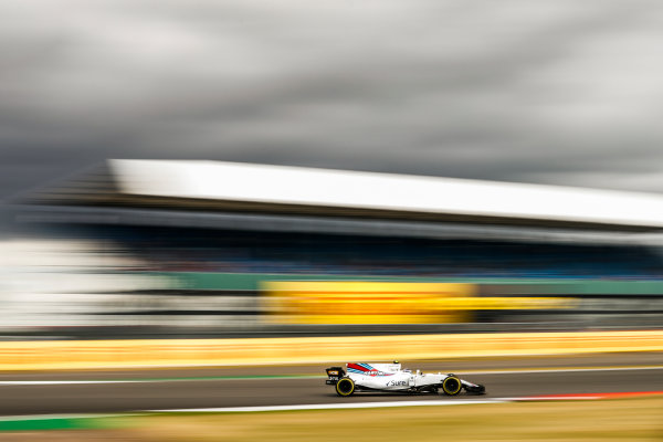 Silverstone, Northamptonshire, UK.  Friday 14 July 2017. Lance Stroll, Williams FW40 Mercedes. World Copyright: Glenn Dunbar/LAT Images  ref: Digital Image _31I3354