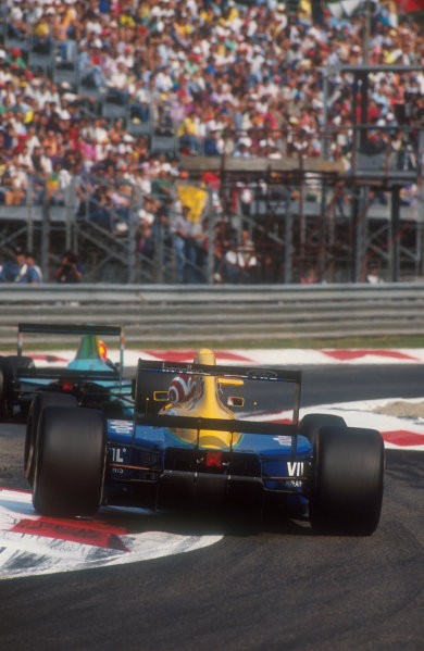 1991 Italian Grand Prix.Monza, Italy.6-8 September 1991.Nelson Piquet (Benetton B191 Ford) 6th position. This was his 200th Grand Prix start.Ref-91 ITA 13.World Copyright - LAT Photographic