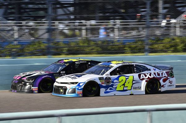 #24: William Byron, Hendrick Motorsports, Chevrolet Camaro Axalta Flames of Independence and #48: Jimmie Johnson, Hendrick Motorsports, Chevrolet Camaro Ally