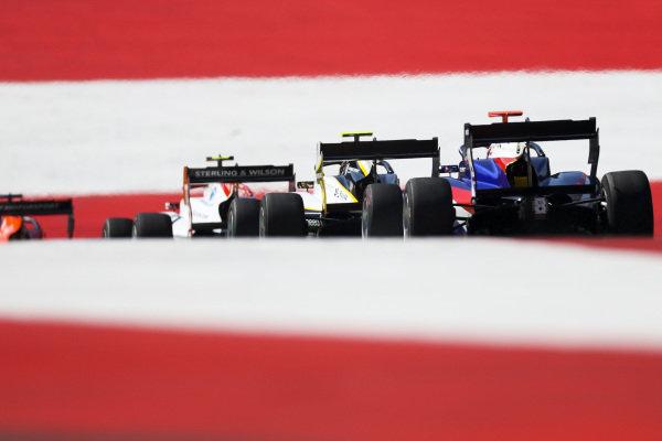 Max Fewtrell (GBR) ART Grand Prix, leads Niko Kari (FIN) Trident