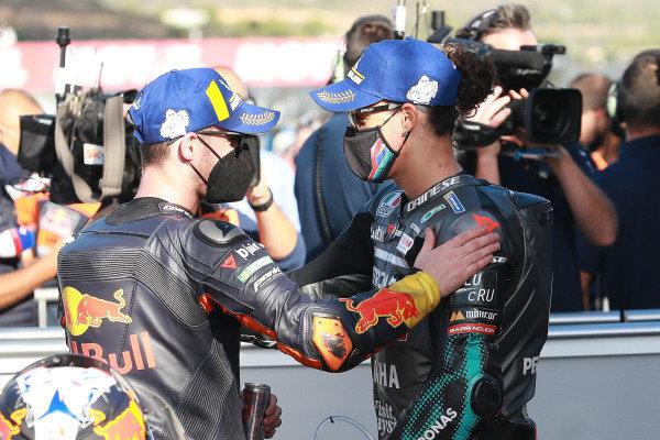 Pol Espargaro, Red Bull KTM Factory Racing, Franco Morbidelli, Petronas Yamaha SRT.