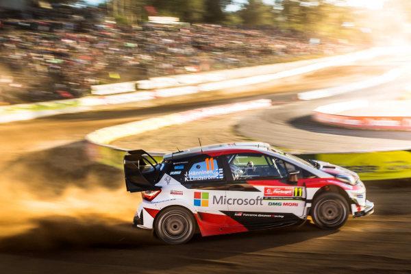Juho Hanninen (FIN) / Kaj Lindstrom (FIN), Toyota Gazoo Racing Toyota Yaris WRC at World Rally Championship, Rd6, Rally Portugal, Day One, Matosinhos, Portugal, 19 May 2017.