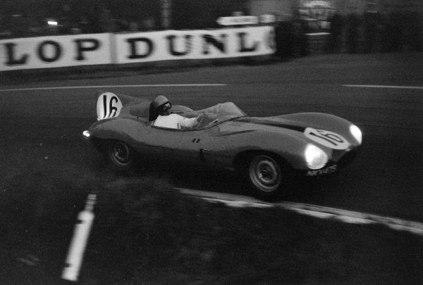 Paul Frère / Freddy Rousselle, Equipe Nationale Belge, Jaguar D-type.