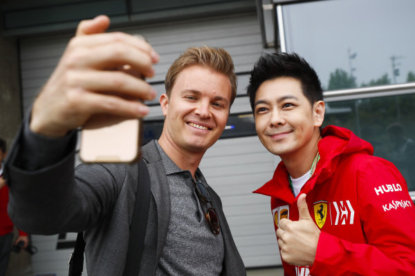 Jimmy Lin, Singer and Nico Rosberg Former F1 World Champion