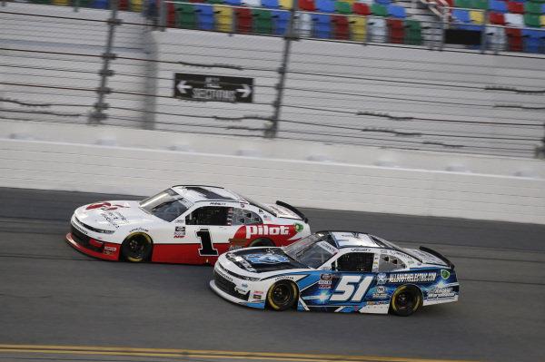 #1: Michael Annett, JR Motorsports, Chevrolet Camaro PFJ American Heart Association, #51: Jeremy Clements, Jeremy Clements Racing, Chevrolet Camaro All South Electric