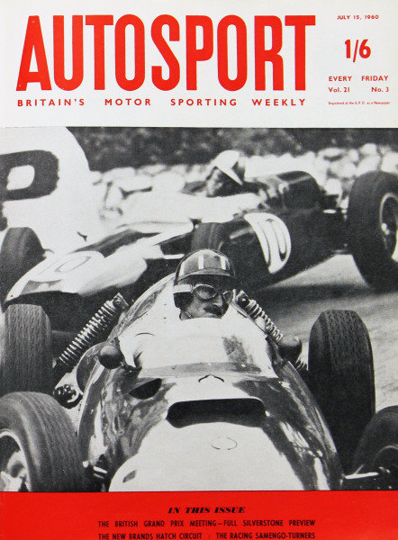 Cover of Autosport magazine, 15th July 1960
