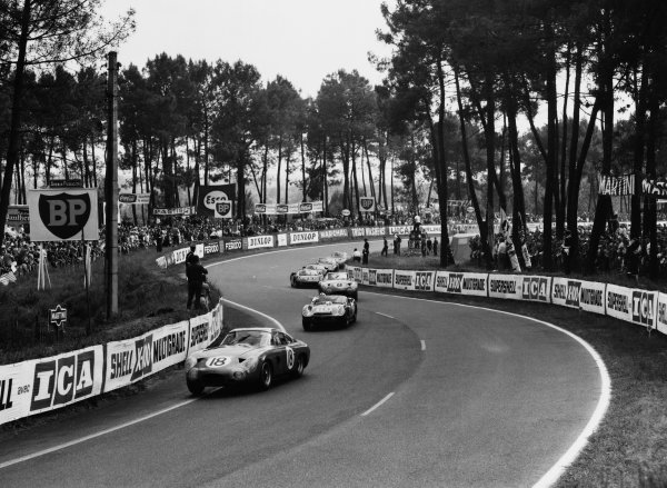 Le Mans, France. 15th - 16th June 1963.Phil Hill/Lucien Bianchi (Aston Martin DP215), retired, action. World Copyright: LAT Photographic.Ref:  B/WPRINT.