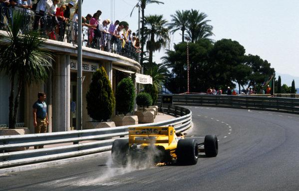 Race winner, Ayrton Senna (BRA) Lotus 99T. Formula One World Championship, Rd4, Monaco Grand Prix, Monte Carlo, Monaco, 31 May 1987.
