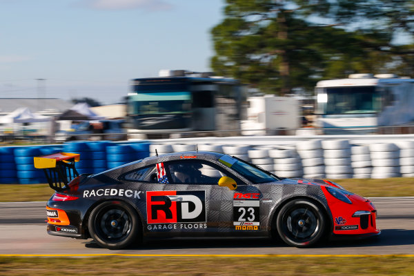 2017 Porsche GT3 Cup USA Sebring International Raceway, Sebring, FL USA Wednesday 15 March 2017 23, Fred Kaimer, GT3G, USA, 2016 Porsche 991 World Copyright: Jake Galstad/LAT Images ref: Digital Image lat-galstad-SIR-0317-14864