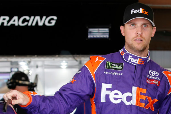 2017 Monster Energy NASCAR Cup Series STP 500 Martinsville Speedway, Martinsville, VA USA Friday 31 March 2017 Denny Hamlin, FedEx Express Toyota Camry World Copyright: Matthew T. Thacker/LAT Images ref: Digital Image 17MART11026