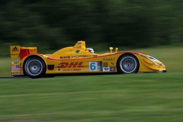 Lucas Luhr (GER) Penske Motorsports Porsche RS Spyder. American Le Mans Series, Rd4, Lime Rock Park, USA, 1 July 2006. DIGITAL IMAGE