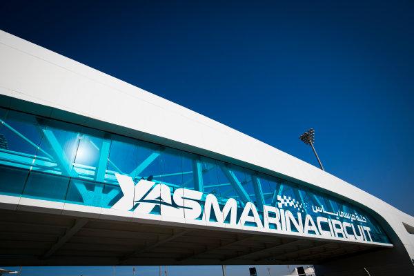 2017 GP3 Series Round 8.  Yas Marina Circuit, Abu Dhabi, United Arab Emirates. Thursday 23 November 2017. Yes Marina Circuit Bridge Photo: Sam Bloxham/GP3 Series Media Service. ref: Digital Image _W6I1645