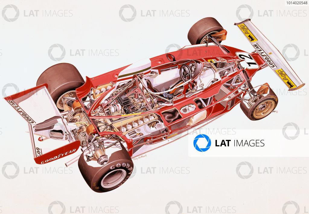 1975 Ferrari 312T.