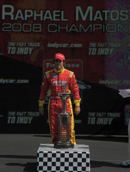 6-7 September, 2008, Joliet, Illinois USARaphael Matos celebrates winning the championship©2008, Dan Boyd, USALAT Photographic