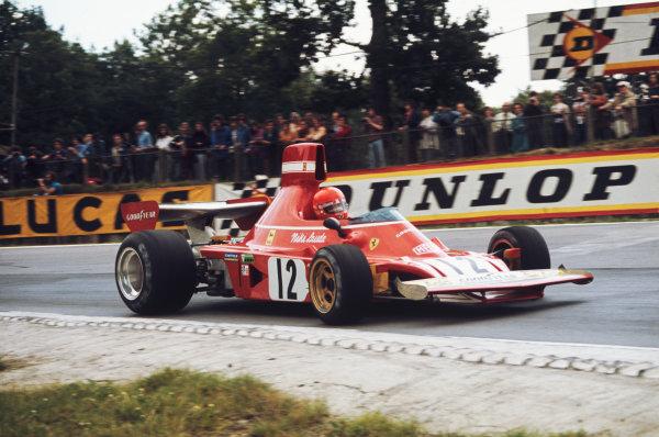 1974 British Grand Prix  Brands Hatch, England. 18-20 July 1974.  Niki Lauda, Ferrari 312B3, 5th position.  Ref: 74GB02. World Copyright: LAT Photographic