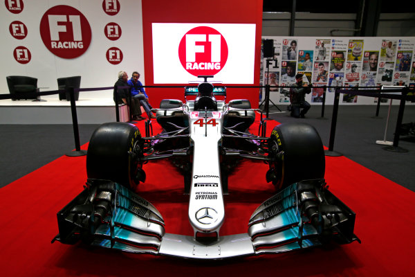 Autosport International Exhibition. National Exhibition Centre, Birmingham, UK. Thursday 11th January 2017. A Mercedes on the F1 Racing Stand. World Copyright: Joe Portlock/LAT Images Ref: _L5R9792