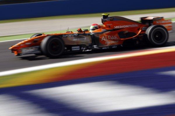 2007 Italian Grand Prix - Friday PracticeAutodromo di Monza, Monza, Italy.7th September 2007.Sakon Yamamoto, Spyker F8-VII Ferrari. Action. World Copyright: Lorenzo Bellanca/LAT Photographicref: Digital Image _64I5511