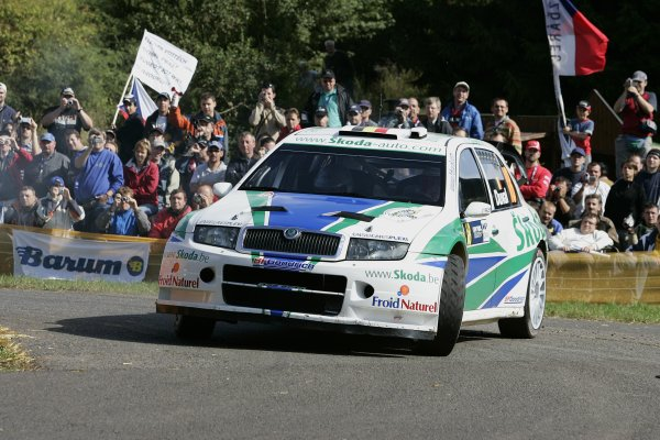 2006 FIA World Rally Champs. Round elevenDeutschland Rally.9th- 13th August 2006.Francois Duval, Skoda, action.World Copyright: McKlein/LAT