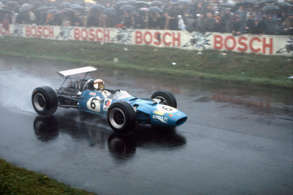 Nurburgring, Germany. 2nd - 4th August 1968. RD8.Jackie Stewart (Matra MS10-Ford), 1st position, action.World Copyright: LAT Photographic.Ref: 35mm Colour Transparency.