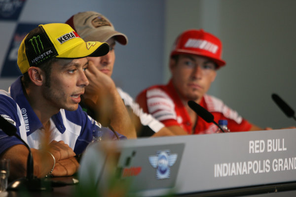 Indianapolis Grand Prix, Indianapolis, USA.28th - 30th August 2009.Valentino Rossi Fiat Yamaha Team.World Copyright: Martin Heath/LAT Photographic ref: Digital Image SE5K4248
