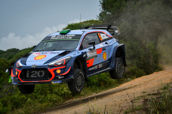 Hayden Paddon in full flight on Rally d'Italia Sardinia