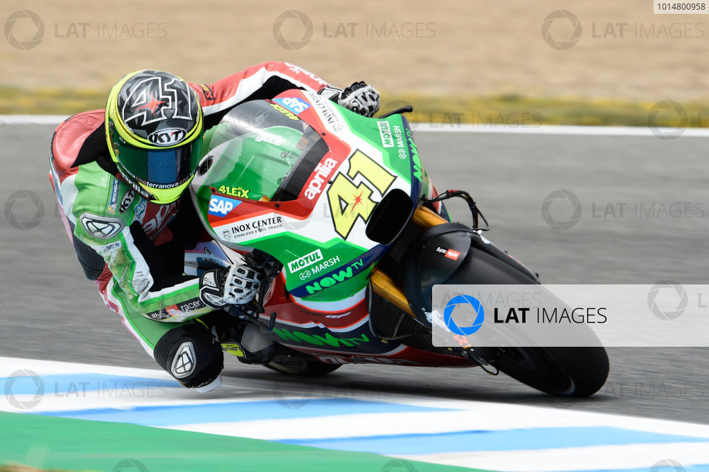 2017 MotoGP Championship - Round 4 Jerez, Spain Friday 5 May 2017 Aleix Espargaro, Aprilia Racing Team Gresini World Copyright: Gold & Goose Photography/LAT Images ref: Digital Image 668103