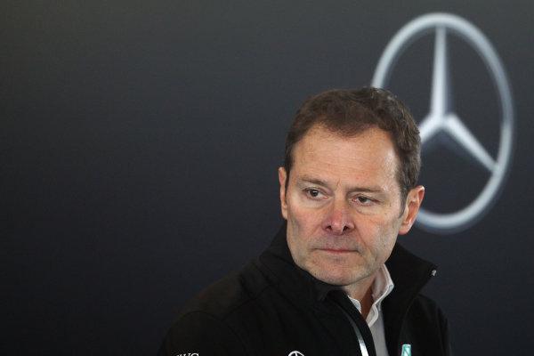 Mercedes F1 W08 Formula 1 Launch. Silverstone, Northampton, UK. Thursday 23 February 2017. Aldo Costa, Engineering Director World Copyright: Hoyer/Ebrey/LAT Images Ref: MDH38917
