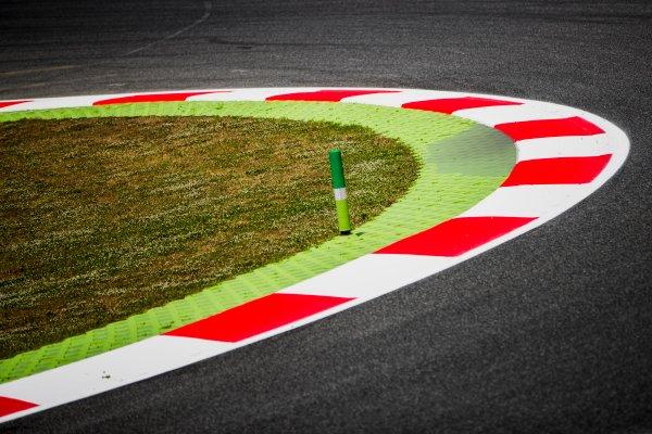 2017 GP3 Series Round 1.  Circuit de Catalunya, Barcelona, Spain. Thursday 11 May 2017. Kerbs. Photo: Zak Mauger/GP3 Series Media Service. ref: Digital Image _54I6848